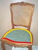 calcul des quantites tissu et clous pour tapisser fauteuil et chaise. Black Bedroom Furniture Sets. Home Design Ideas
