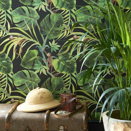 Monkey business papier peint rev tement mural intiss lavable motif tropical - Papier peint tropical ...