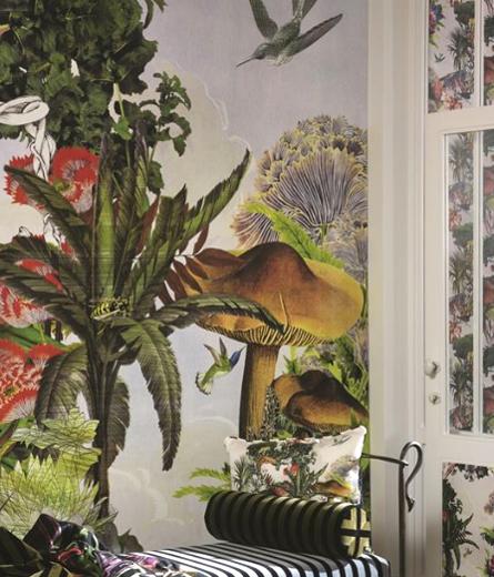 Jardin des r ves papier peint d cor mural panoramique for Decor mural panoramique