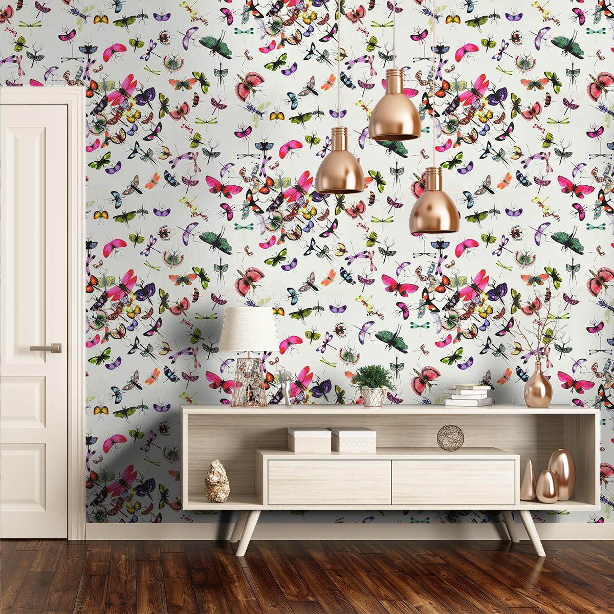 Mariposa papier peint revêtement mural intissé lavable fantaisie ...