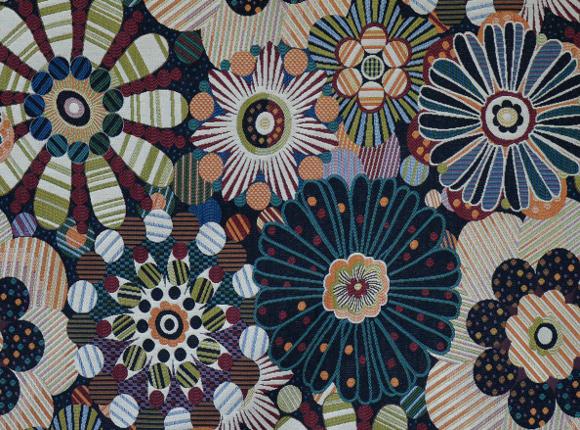 Tissu D Ameublement Imprime Fleurs Vendu Par L Atelier La
