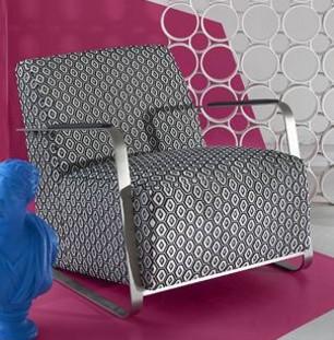 bw1041 tissu ameublement black and white noir et blanc pour fauteuil