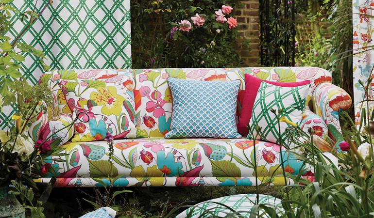 Clarke Et Clarke Daisy Turquoise Designer Rideaux Tapisserie Tissu