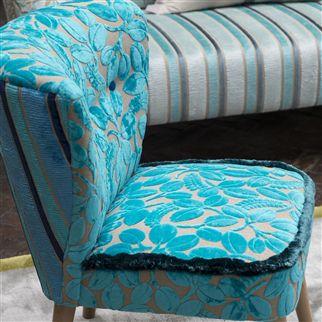 calaggio tissu ameublement velours fauteuil designers guild vendu par la rime des matieres. Black Bedroom Furniture Sets. Home Design Ideas