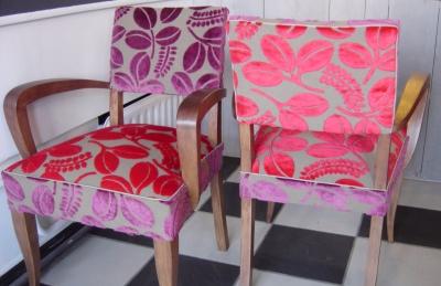 Calaggio Tissu ameublement velours fauteuil Designers Guild vendu ...