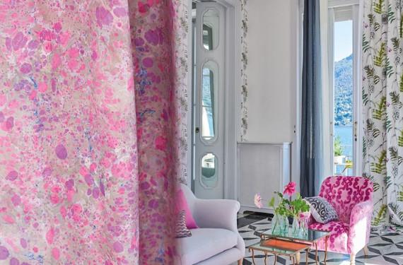 lustro tissu ameublement lavable fauteuil et rideaux designers guild vendu par la rime des matieres. Black Bedroom Furniture Sets. Home Design Ideas