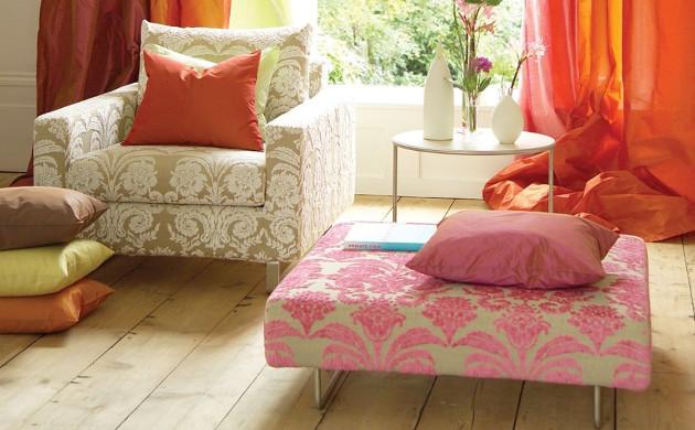 Ombrione Tissu ameublement velours fauteuil Designers Guild vendu ...