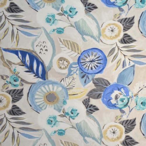 tissu fantasia imprim contemporain fleurs de casal vendu par la rime des matieres. Black Bedroom Furniture Sets. Home Design Ideas