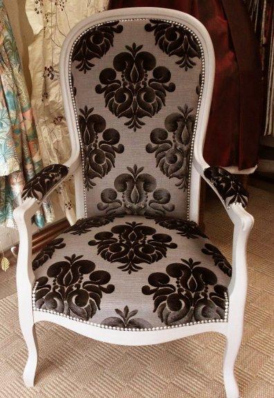 tissu ameublement galliera pour fauteuil voltaire vendu par la rime des matieres - Restaurer Un Fauteuil Voltaire