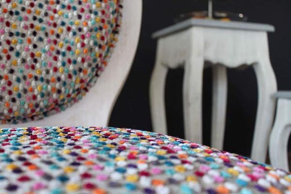 tissu janeiro motif pois pour chaise fauteul canap et rideau de casal vendu par la rime des. Black Bedroom Furniture Sets. Home Design Ideas