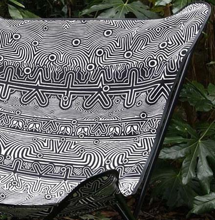 canapé noir design