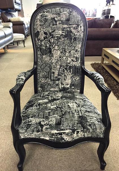 les tissus d 39 ameublement pour tapisser voltaire vendus par la rime des mati res. Black Bedroom Furniture Sets. Home Design Ideas