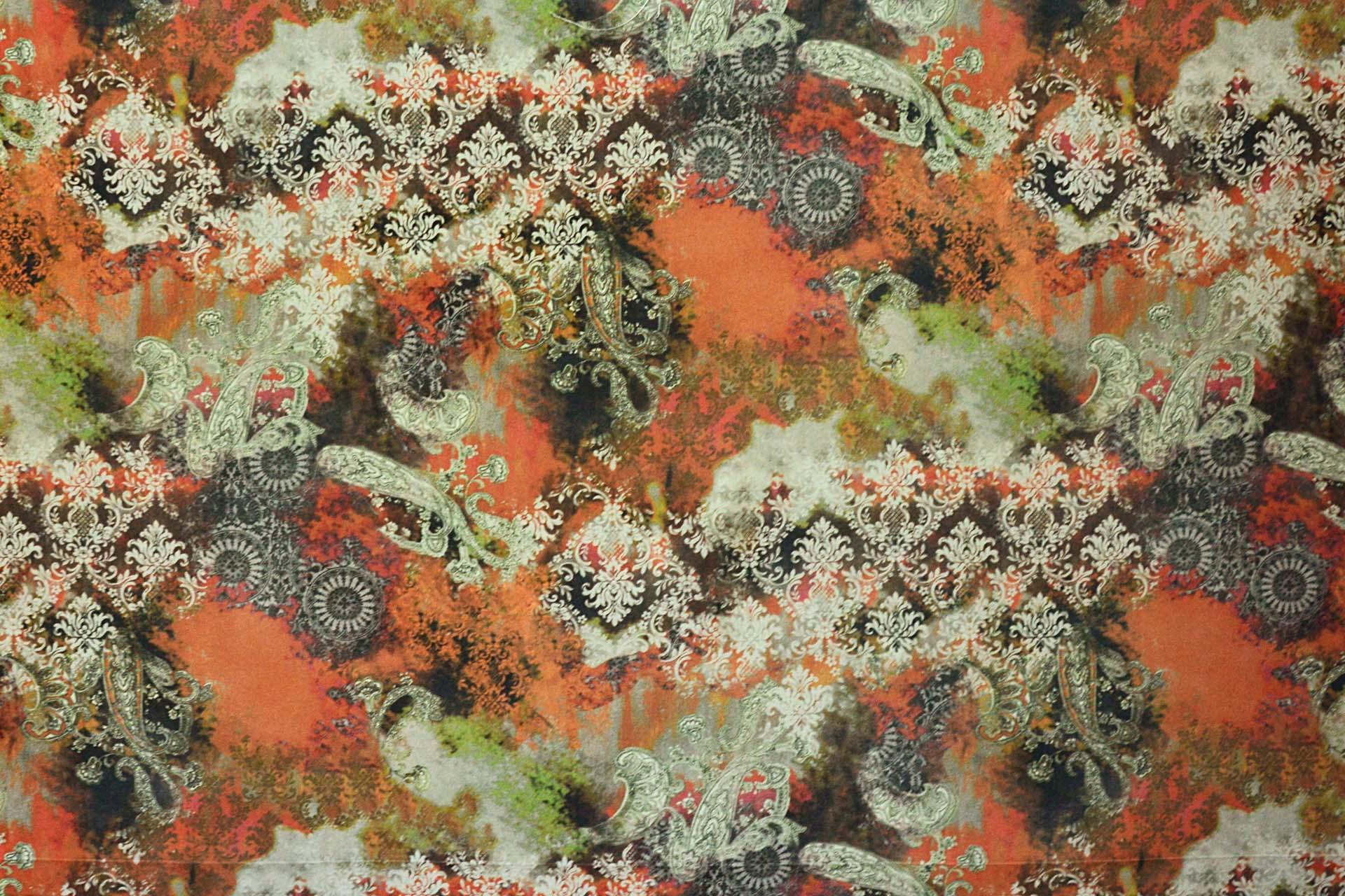 Tissu katmandou imprim fantaisie lavable de casal vendu - Tissu ameublement contemporain ...