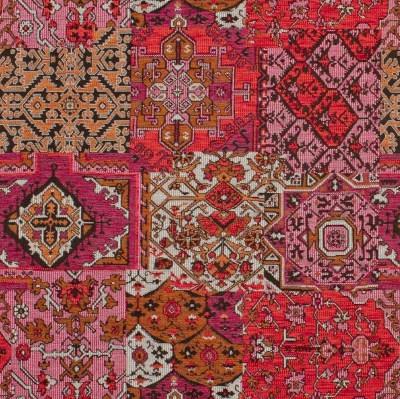 tissu kilim motif tapis persan vendu par la rime des matieres. Black Bedroom Furniture Sets. Home Design Ideas