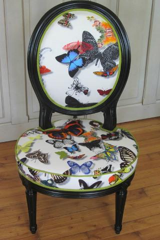 tissu butterfly parade de christian lacroix motif papillons et lavable vendu par la rime des. Black Bedroom Furniture Sets. Home Design Ideas