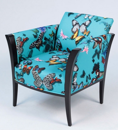 tissu butterfly parade de christian lacroix motif papillons et lavable vendu par la rime des. Black Bedroom Furniture Sets. Home Design Ideas