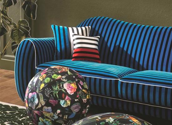 les tissus ameublement christian lacroix pour chaise fauteuil canap s et rideaux coussins. Black Bedroom Furniture Sets. Home Design Ideas