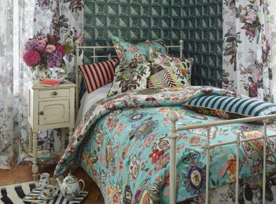 couvre lit lacroix Tissu Cocarde imprimé lavable pour fauteuil, canapé et rideaux de  couvre lit lacroix
