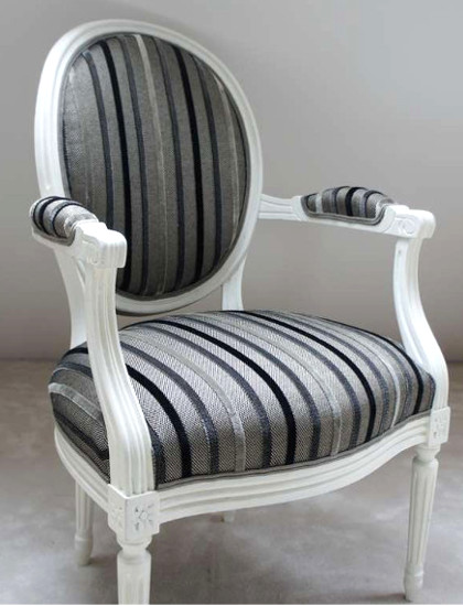 Beautiful chaise louis xvi moderne gallery for Tissu pour recouvrir chaise