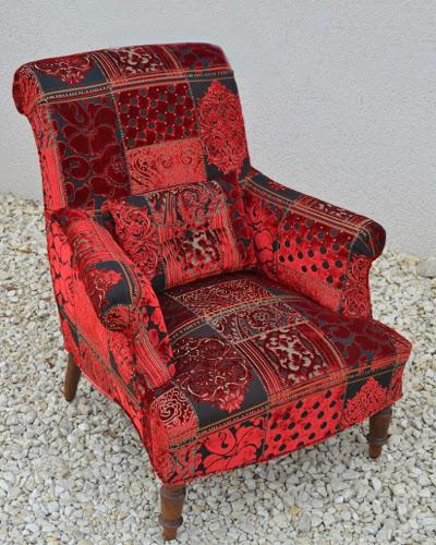 cool pandora tissu velours style patchwork lavable de luciano marcato pour fauteuil et canap par. Black Bedroom Furniture Sets. Home Design Ideas