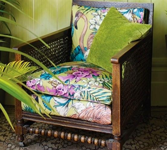 Flamingo Club tissu ameublement lavable chaise fauteuil canapé ...