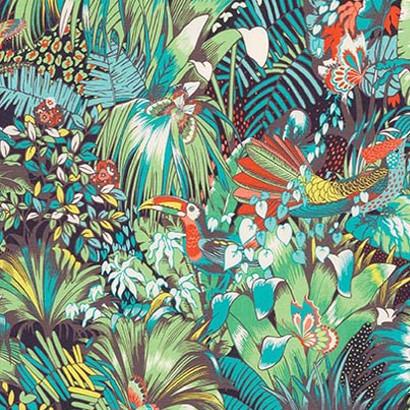 Jungle Beat Tissu Ameublement Chaise Fauteuil Canape Rideaux Imprime