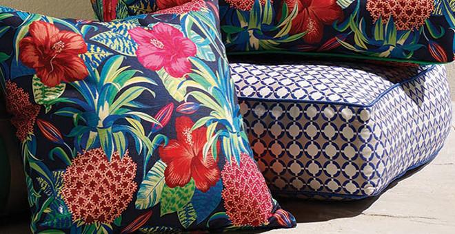 Pina colada tissu ameublement imprim pour chaise fauteuil for Hibiscus entretien exterieur